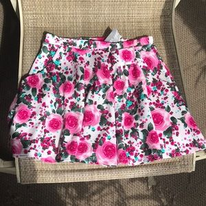 Wet Seal floral skirt small